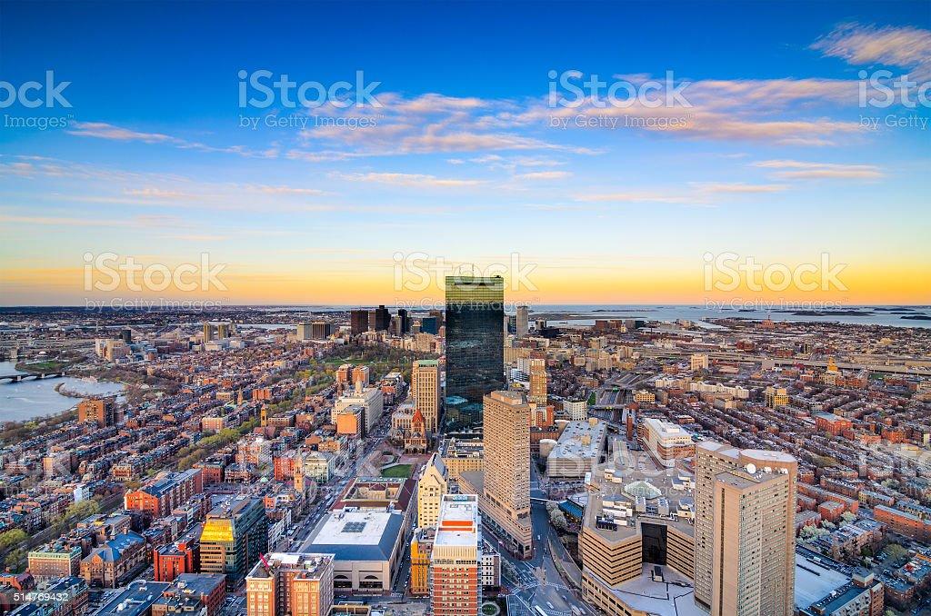 Boston Massachusetts Skyline stock photo