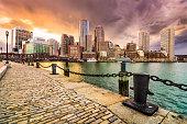 Boston, Massachusetts Skyline