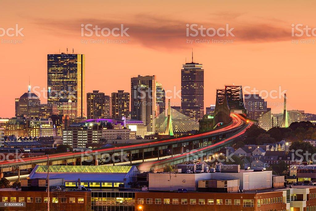 Boston, Massachusetts Skyline stock photo