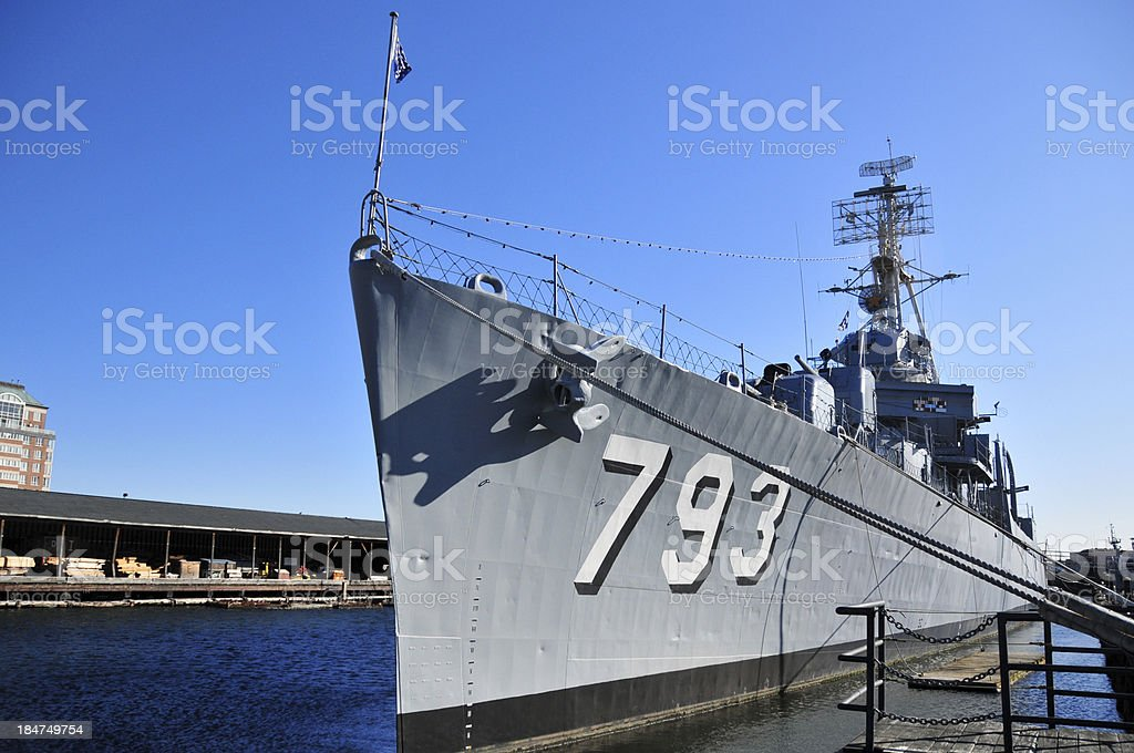 Boston, Massachusetts, USA: Charlestown Navy Yard, USS Cassin Young stock photo