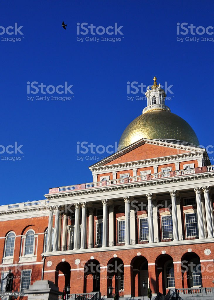 Boston, Massachusetts, USA: Massachussetts State House stock photo