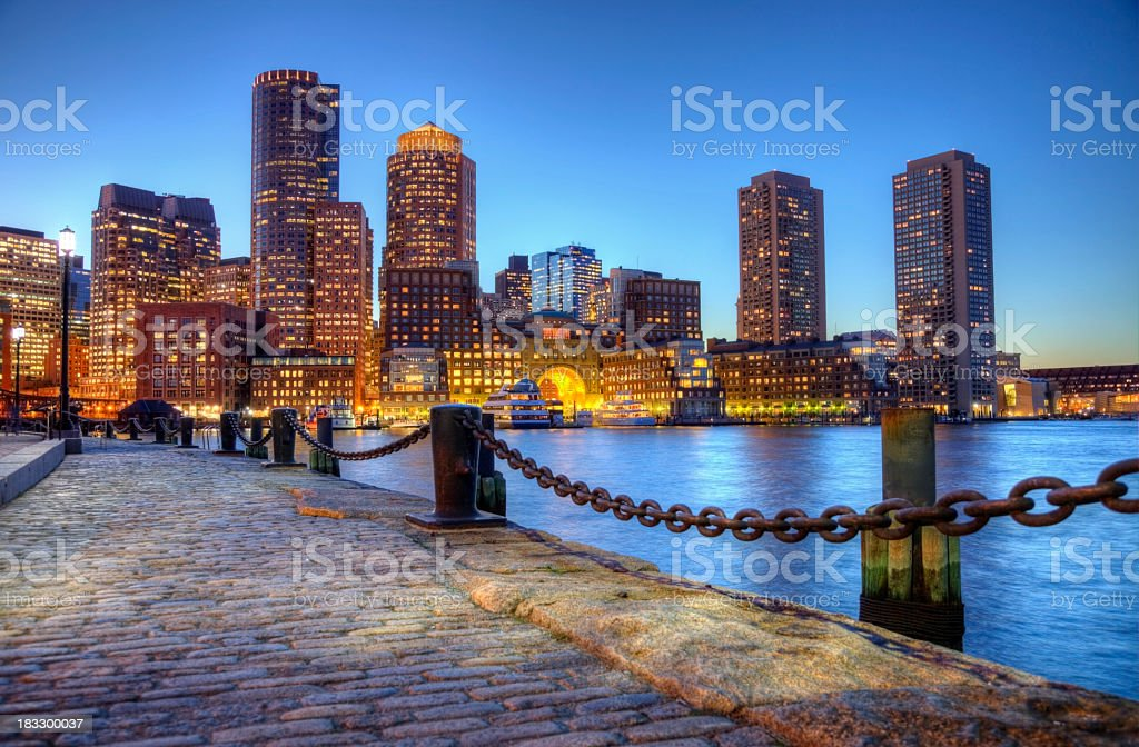 Boston Massachusetts Waterfront stock photo