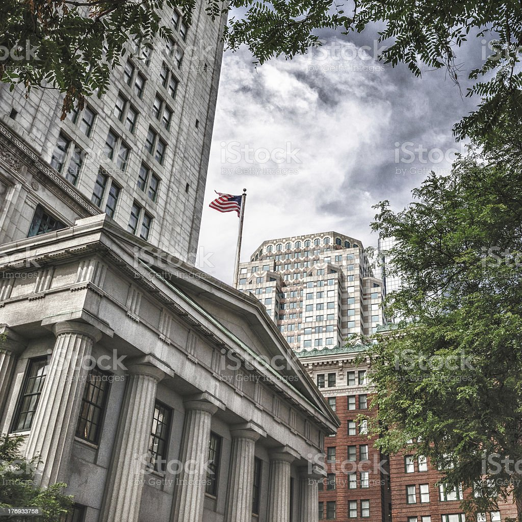 Boston neoclassic architecture royalty-free stock photo