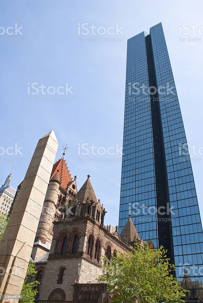 Boston Old and New royalty-free stock photo