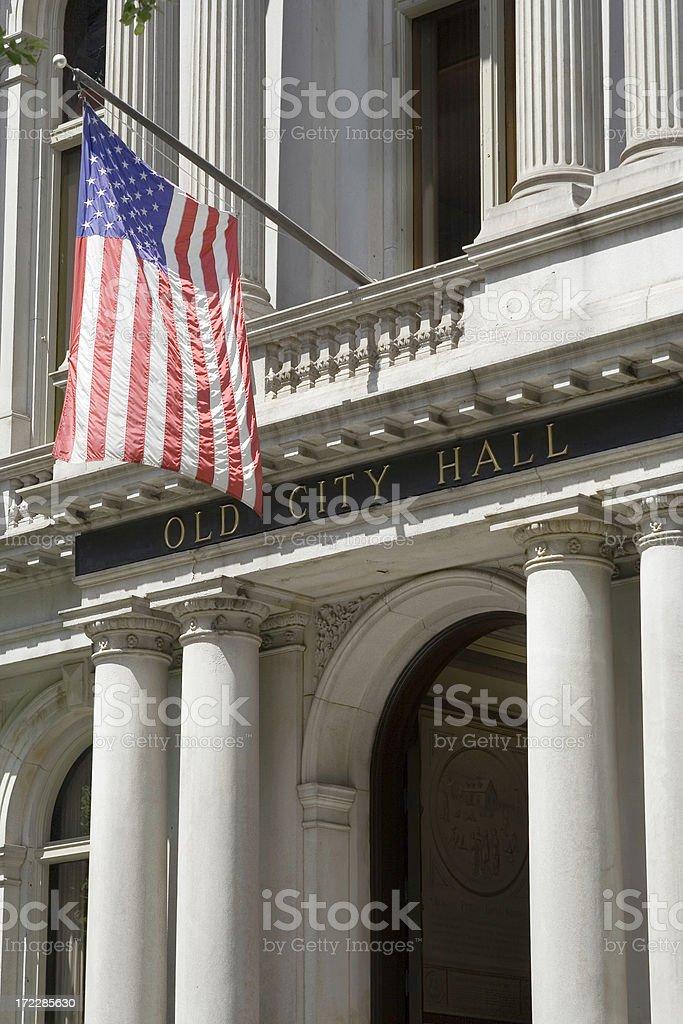 Boston Old City Hall stock photo
