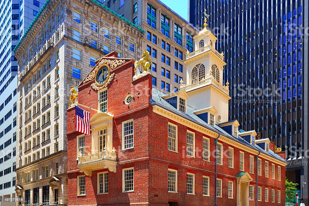 Boston Old State House in Massachusetts stock photo