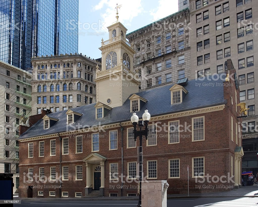 Boston, Old State House royalty-free stock photo