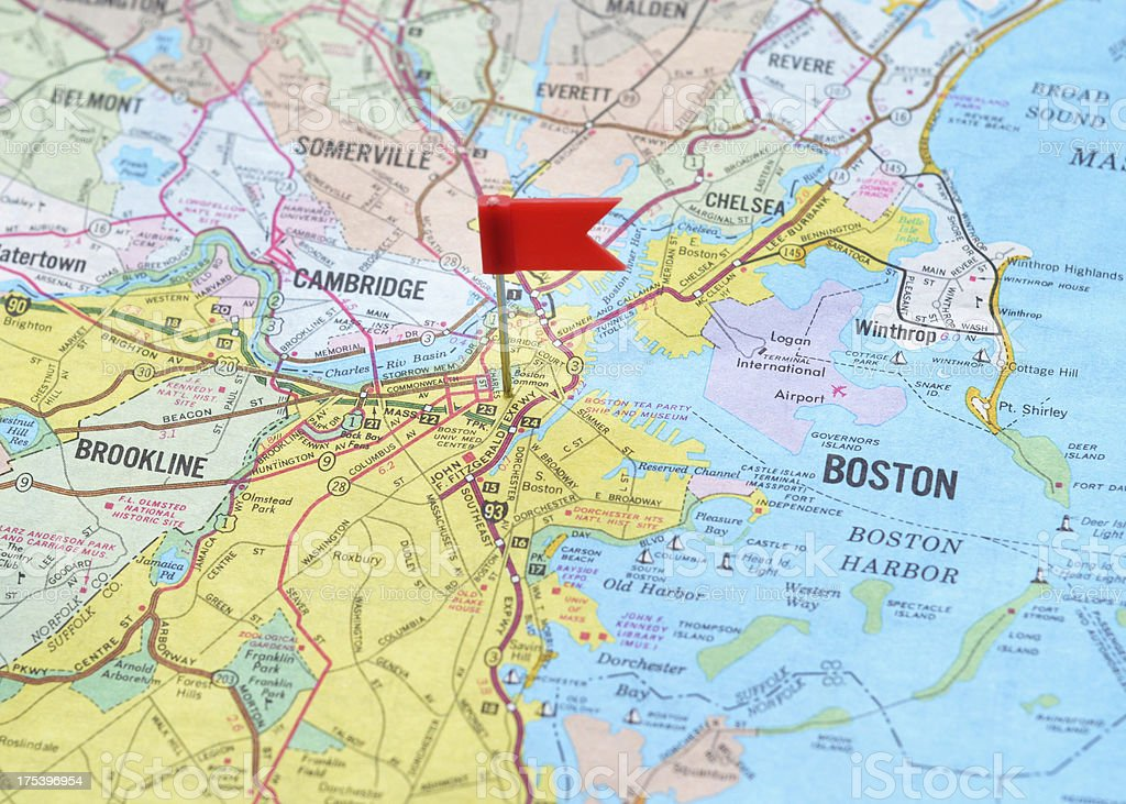 Boston on the Map stock photo