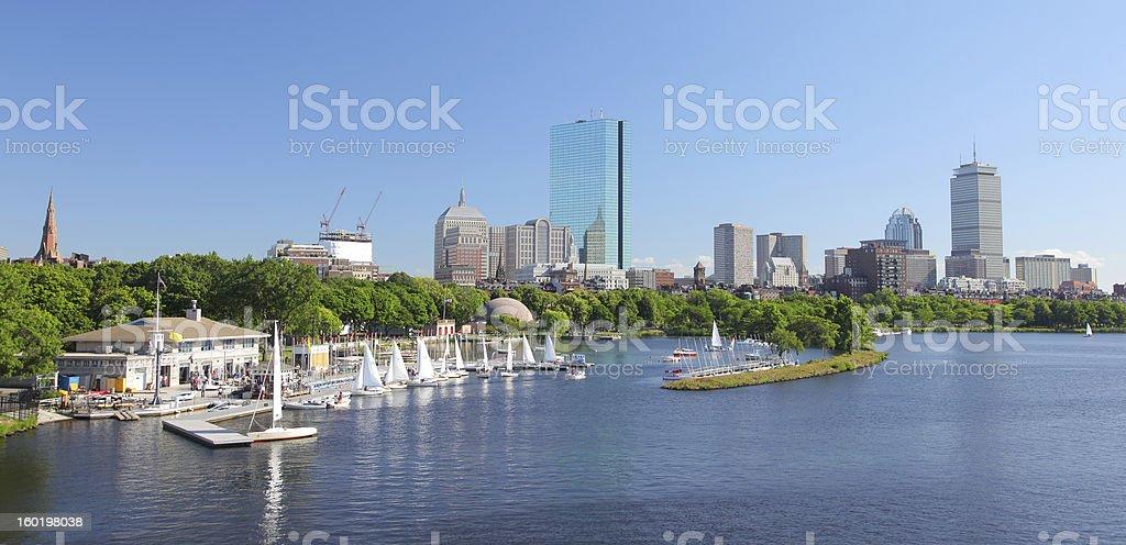 Boston Park and Marina royalty-free stock photo