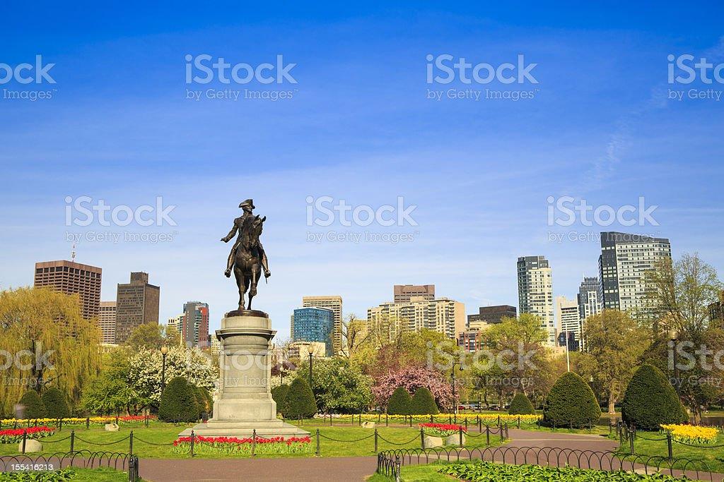 Boston Public Garden, Massachusetts stock photo