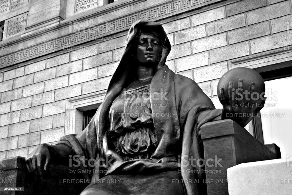 Boston Public Library stock photo
