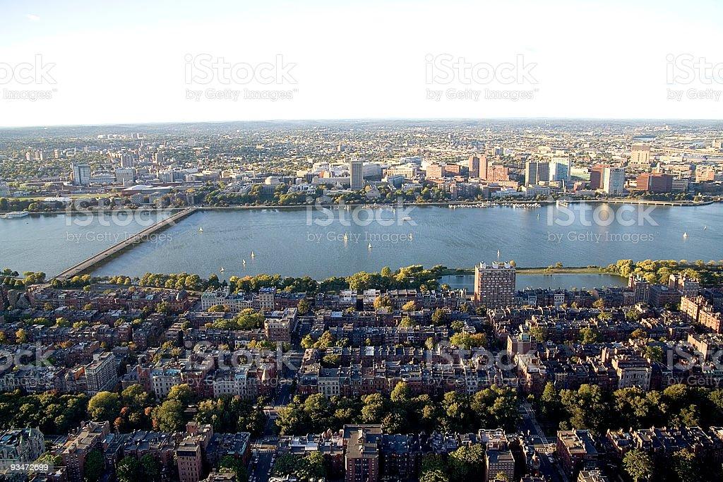 Boston rooftops royalty-free stock photo