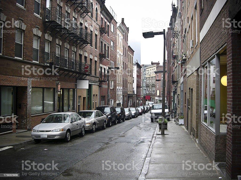 Boston side street royalty-free stock photo