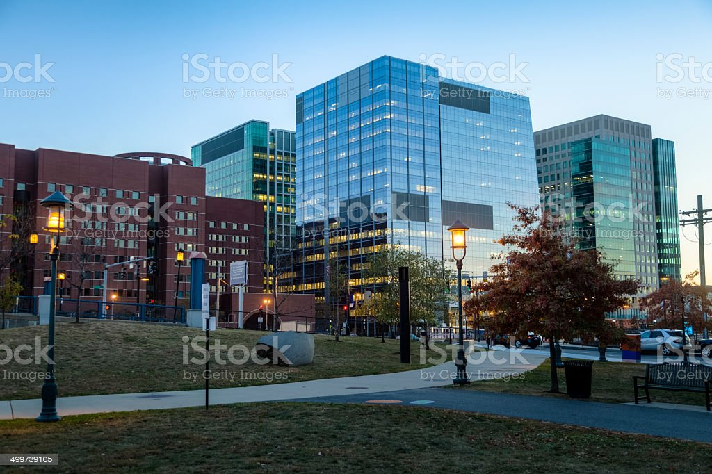 Boston Skyline and Federal Courthouse stock photo
