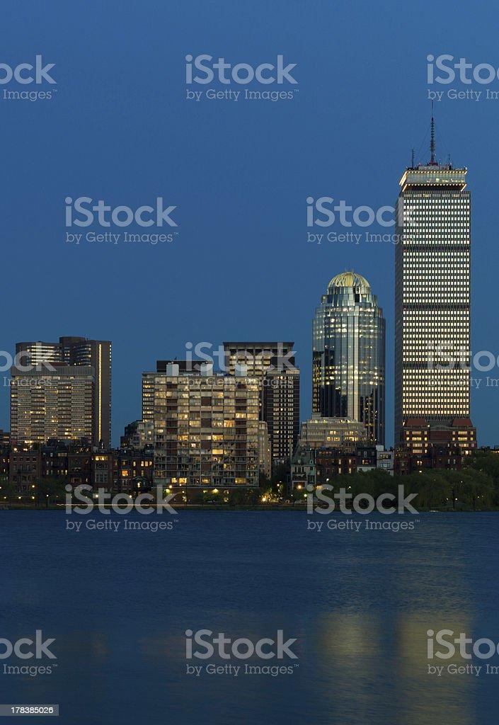 Boston Skyline at Twilight royalty-free stock photo