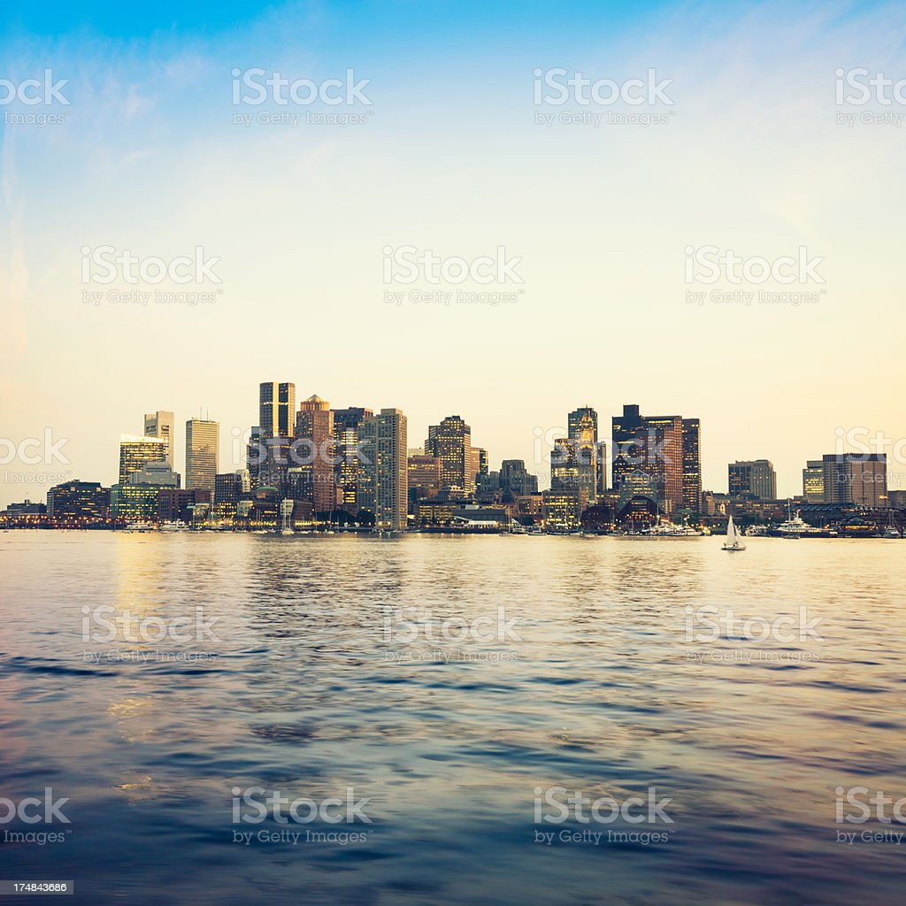 Boston skyline cityscape stock photo