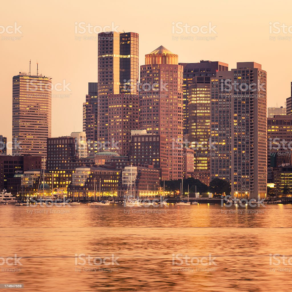 Boston skyline cityscape royalty-free stock photo