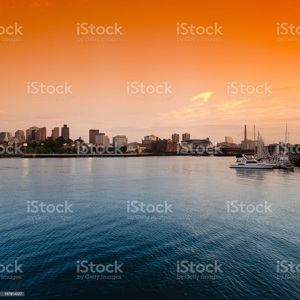Boston skyline from the south port royalty-free stock photo