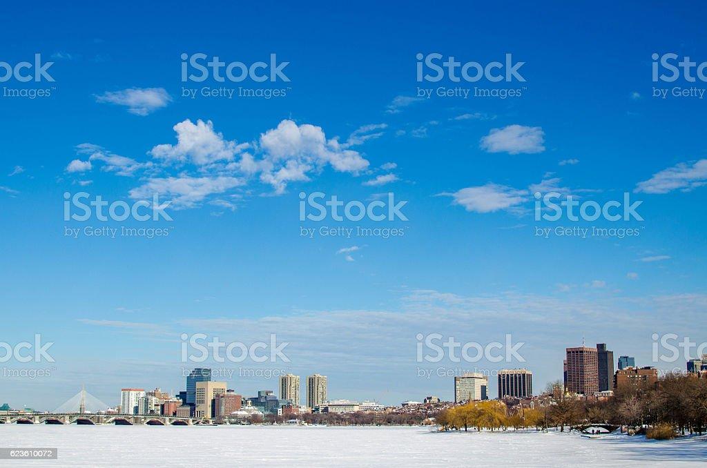 Boston Skyline in USA stock photo