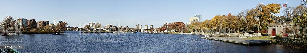 Boston skyline panorama stock photo