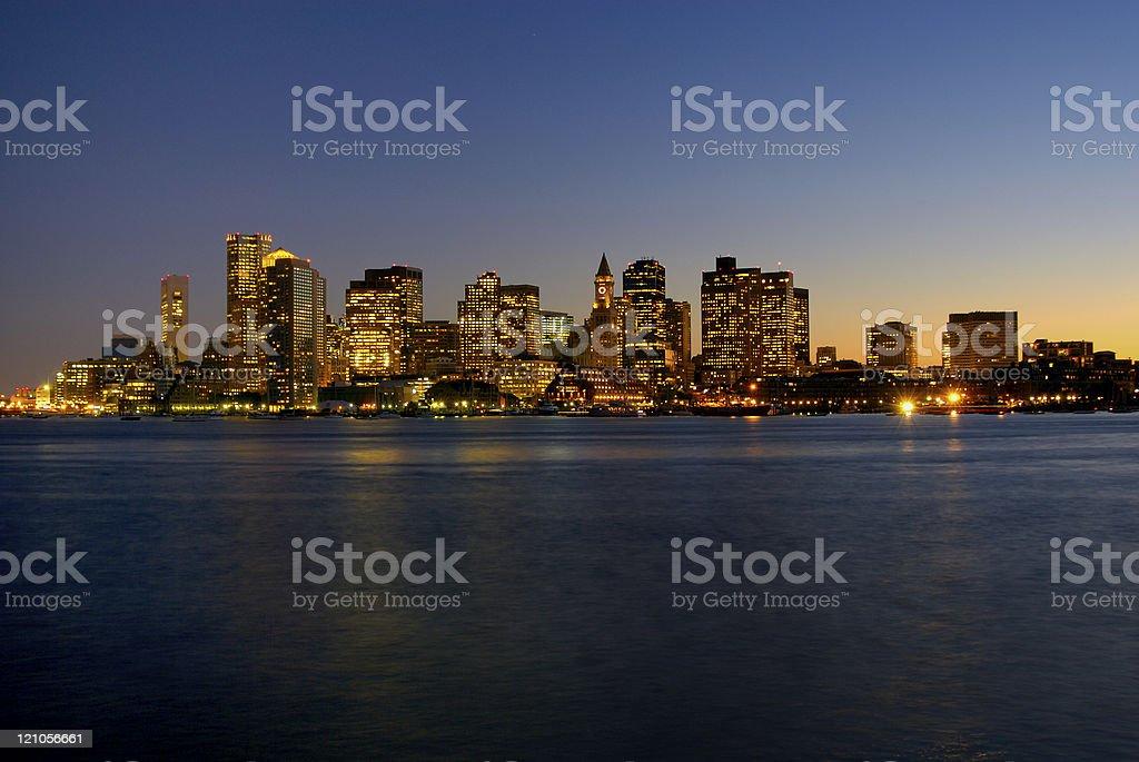 Boston Skyline royalty-free stock photo