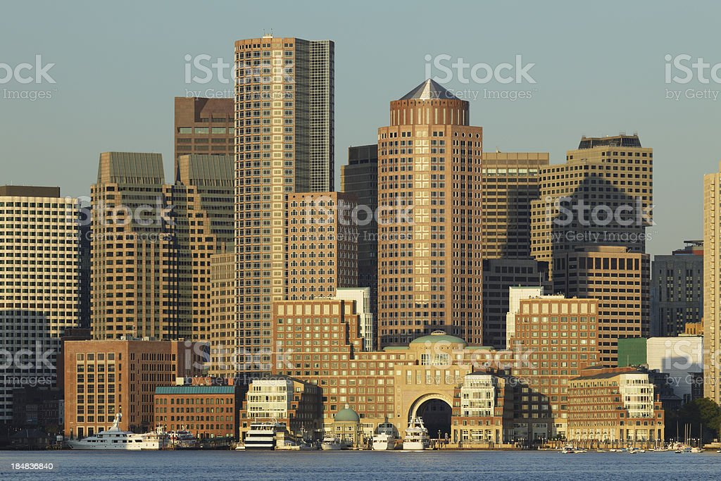 Boston Skyline royalty-free stock photo