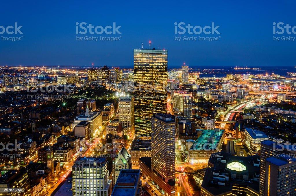 Panorama de Boston  photo libre de droits