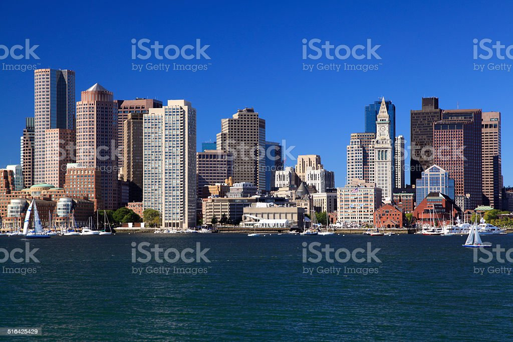 Boston skyline, USA stock photo