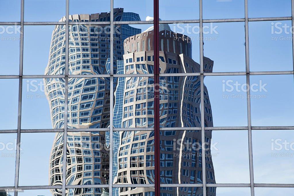 Boston Skyscraper Reflection royalty-free stock photo