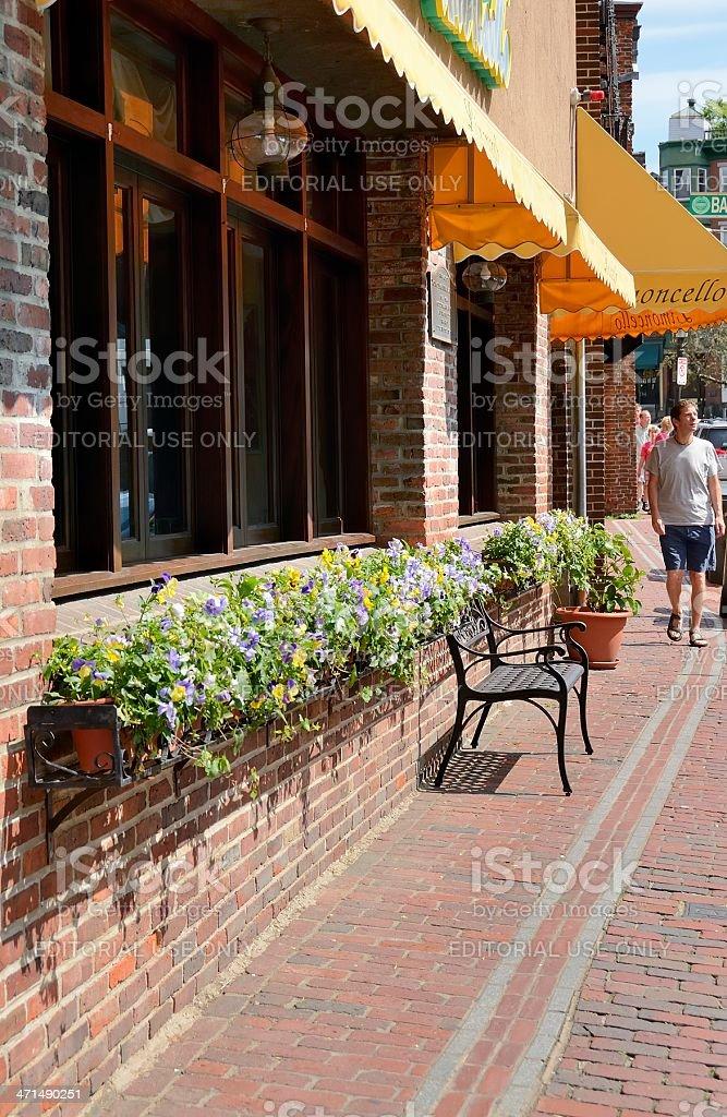 Boston Street Scene royalty-free stock photo