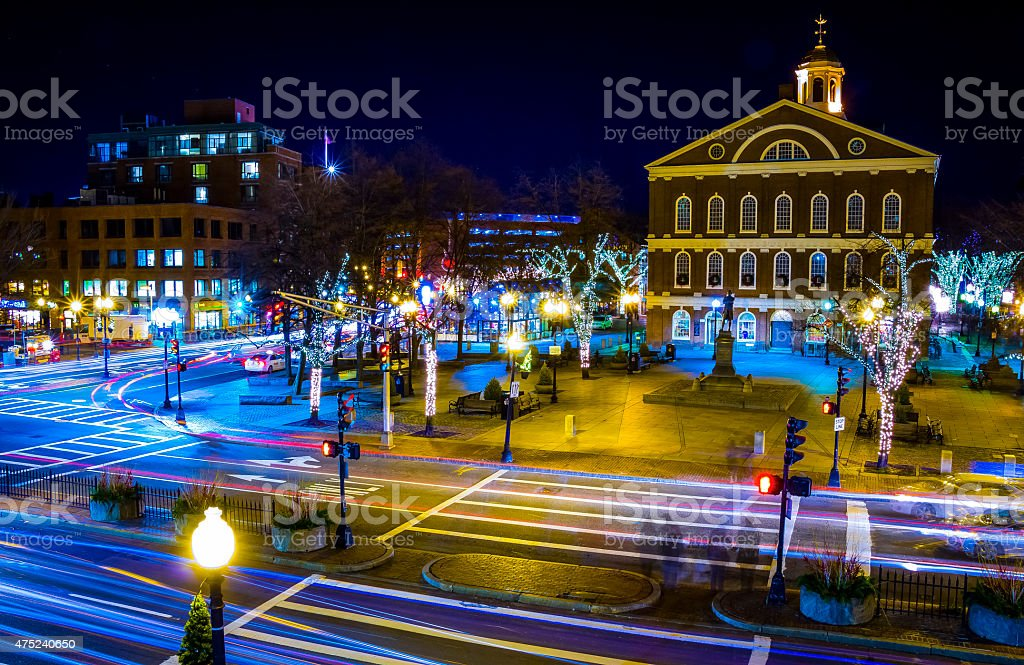 Boston Streets stock photo
