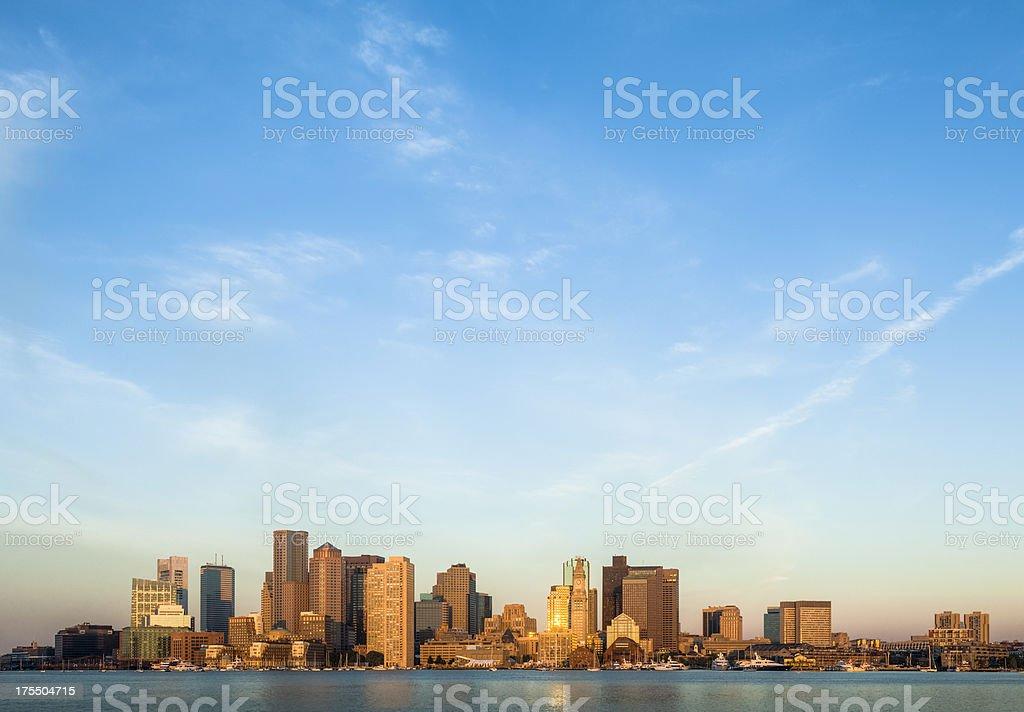 Boston Sunrise with Dramatic Sky stock photo