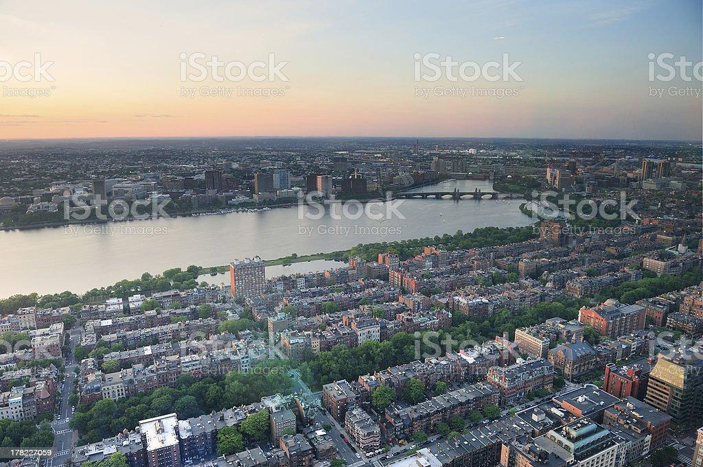 Boston Sunset royalty-free stock photo
