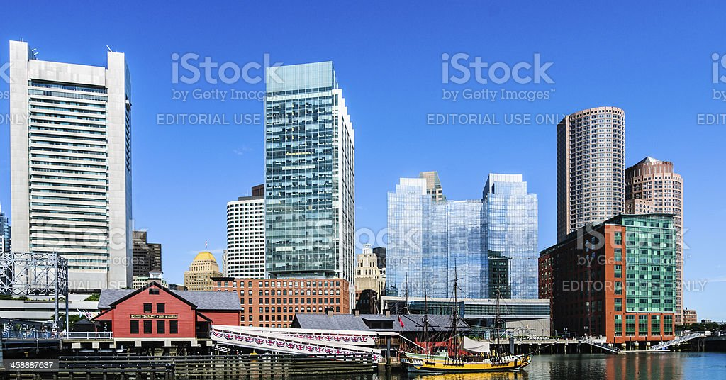 Boston Tea Party Ships and Museum royalty-free stock photo