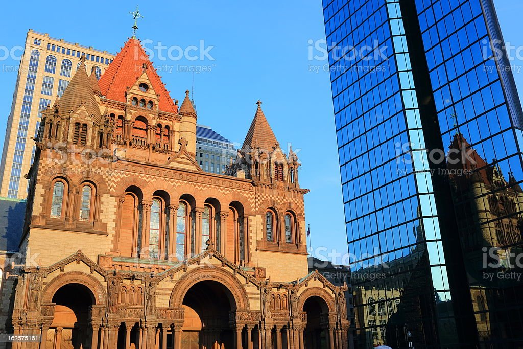 Boston: Trinity Church stock photo