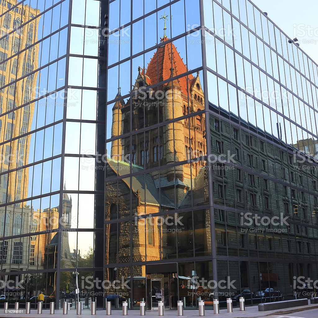 Boston: Trinity Church royalty-free stock photo