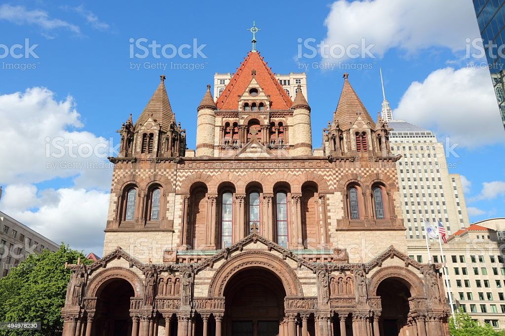 Boston Trinity Church stock photo