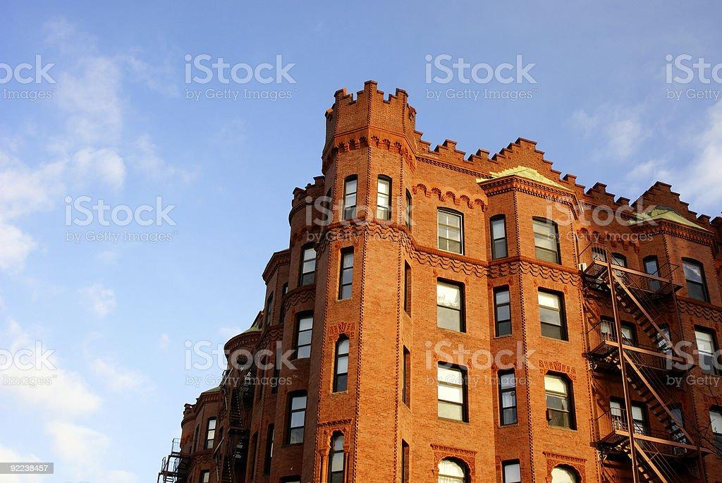 boston turrets royalty-free stock photo