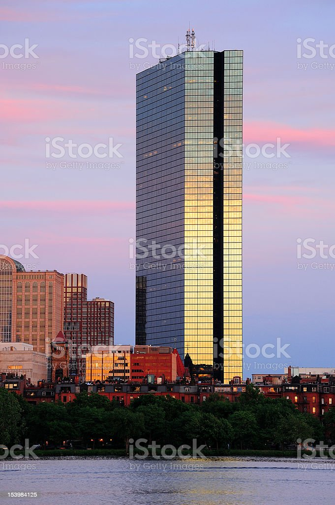 Boston urban city skyline royalty-free stock photo