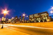 boston urban scene on the night