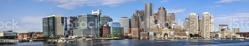 Boston Waterfront Panorama stock photo