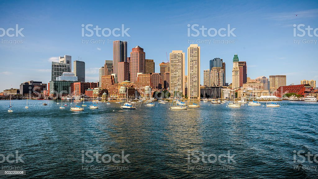 Boston Watrefront stock photo