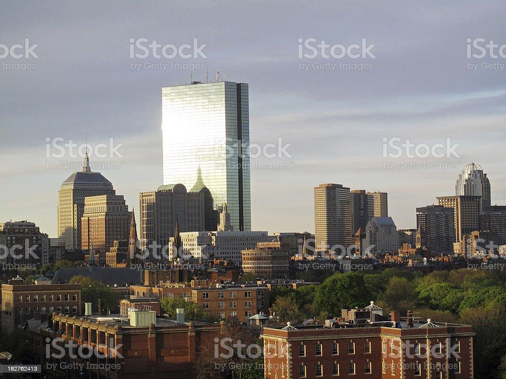 Boston's Back Bay Skyline royalty-free stock photo