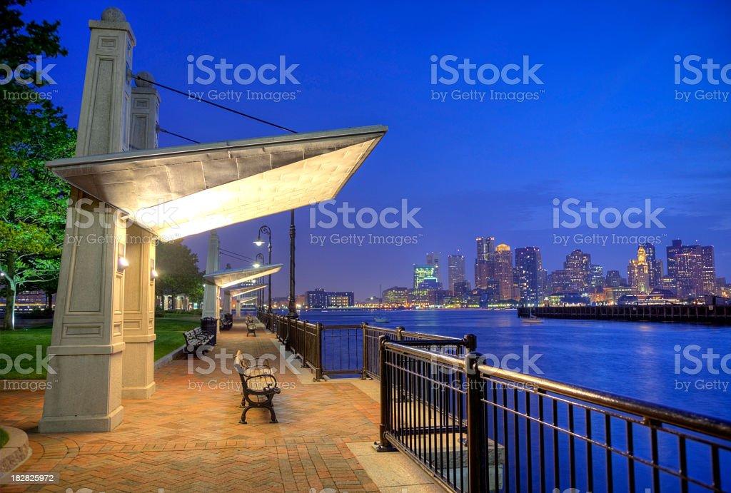 Boston's HarborWalk royalty-free stock photo