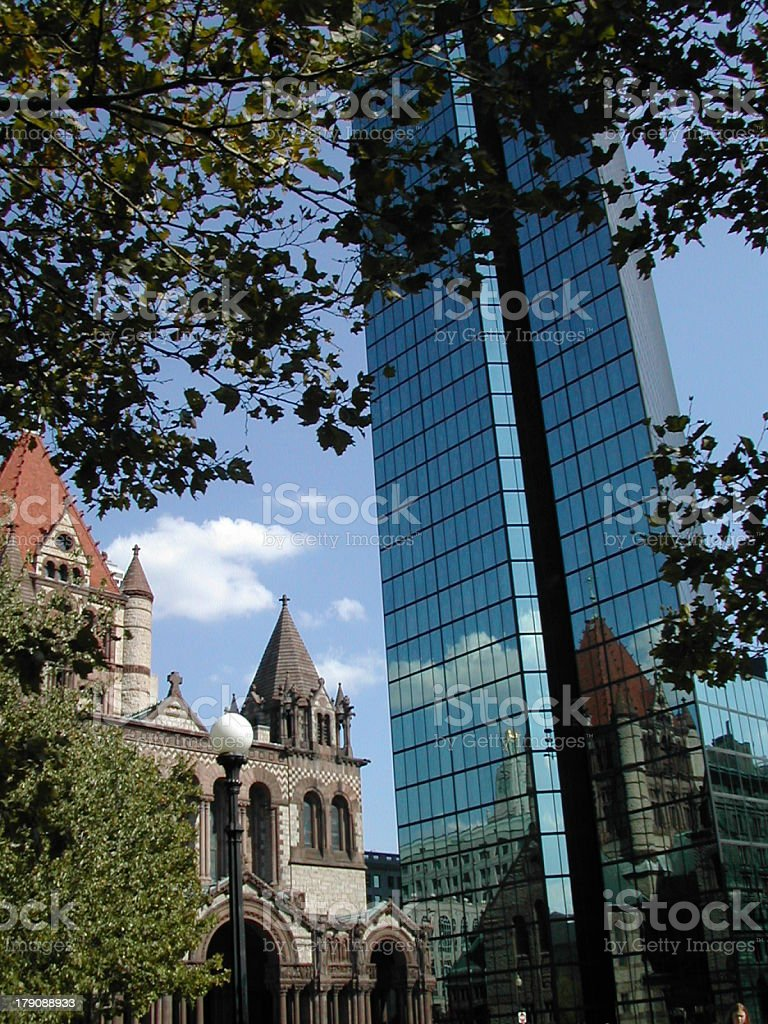 Boston's Reflections of Yesteryear royalty-free stock photo
