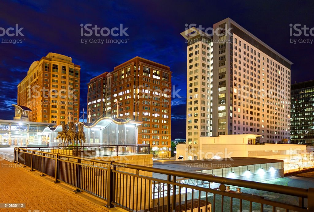 Boston's transforming Seaport/Innovation District stock photo