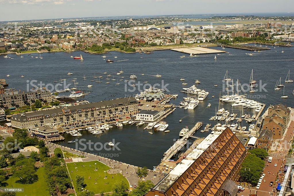 Bostons Waterfront View stock photo