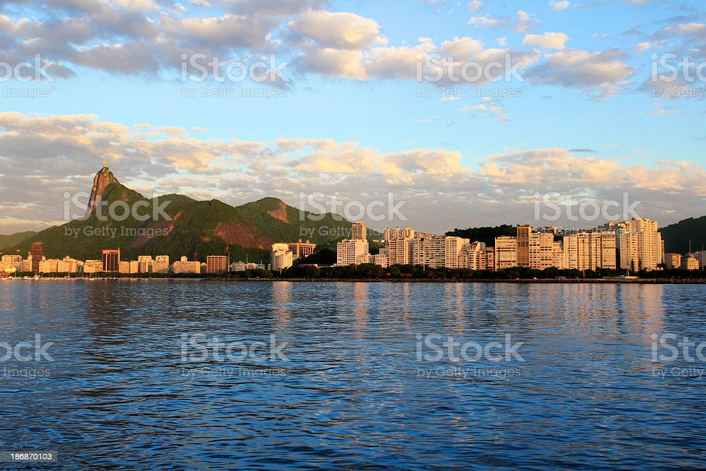Botafogo and Flamengo districts in Rio royalty-free stock photo