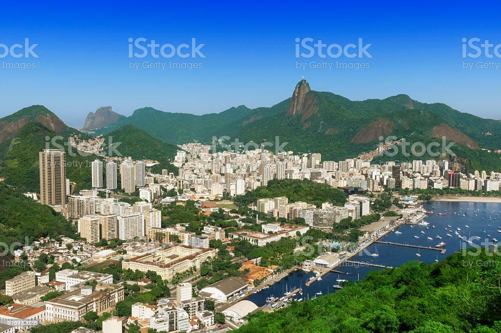 Botafogo and Urca districts in Rio de Janeiro stock photo