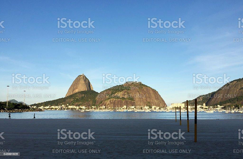 Botafogo Bay and Sugar Loaf at dusk stock photo